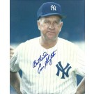 """Enos Slaughter Autographed New York Yankees 8"""" x 10"""" Photograph with """"Best Wishes"""" Inscription Deceased (Unframed)"""