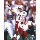 """Eric Crouch Autographed Nebraska Cornhuskers 8"""" x 10"""" Photograph 2001 Heisman Trophy Winner (Unframed)"""