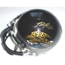 Fred Taylor Autographed Jacksonville Jaguars Authentic Mini-Football Helmet (Gold Autograph)