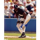 "Frank ""The Big Hurt"" Thomas ""Black Jersey"" Autographed Chicago White Sox 8"" x 10"" Photograph (Unframed)"