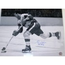 "Gordie Howe Autographed Detroit Red Wings 16"" x 20"" B+W Photograph with ""MR HOCKEY"" Inscription (Unframed)"