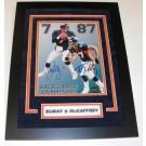 "John Elway and Ed McCaffrey Dual Autographed Denver Broncos 8"" x 10"" Custom Framed Photograph"