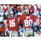 "Joe Montana and Jerry Rice DUAL Autographed San Francisco 49ers 8"" x 10"" Photograph (Unframed)"