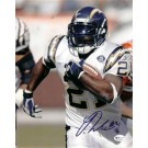 """Ladainian Tomlinson """"With Bal"""" Autographed San Diego Chargers 8"""" x 10"""" Photograph (Unframed)"""