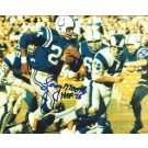 "Lenny Moore Autographed Baltimore Colts 8"" x 10"" Photograph Hall of Famer (Unframed)"