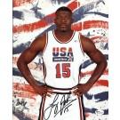 "Larry Johnson Autographed Dream Team USA 8"" x 10"" Olympic Photograph (Unframed)"