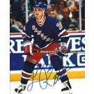 """Luc Robitaille Autographed New York Rangers 8"""" x 10"""" Photograph (Unframed)"""