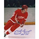 """Marcel Dionne Autographed Detroit Red Wings 8"""" x 10"""" Photograph Hall of Famer (Unframed)"""