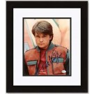 "Michael J. Fox Autographed ""Back to the Future"" 8"" x 10"" Custom Framed Photograph"