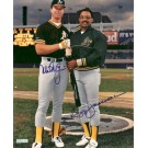 "Mark McGwire and Reggie Jackson Autographed 8"" x 10"" Photograph (Unframed)"
