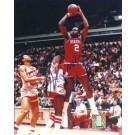 """Moses Malone """"Shooting"""" Autographed Philadelphia 76ers 8"""" x 10"""" Photograph (Unframed)"""