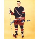 "Phil Goyette Autographed New York Rangers 8"" x 10"" Photograph (Unframed)"
