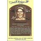 "Phil Rizzuto Autographed New York Yankees Hall of Fame 3"" x 5"" Postcard (Unframed)"