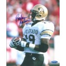 "Rashaan Salaam Autographed University Colorado 8"" x 10"" Photograph 1994 Heisman Trophy Winner (Unframed)"