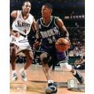 "Ray Allen ""With Ball"" Autographed Milwaukee Bucks 8"" x 10"" Photograph (Unframed)"