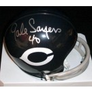 Gale Sayers Autographed Chicago Bears THROWBACK Mini Helmet (Unframed)
