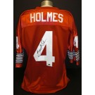 Santonio Holmes Autographed Red Custom Jersey Ohio State Buckeyes and Pittsburgh Steelers Star