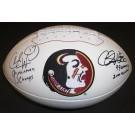 Charlie Ward and Chris Weinke DUAL Autographed FSU Seminoles Football