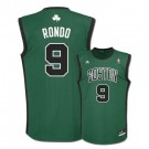 Rajon Rondo Boston Celtics #9 Revolution 30 Replica Adidas NBA Basketball Jersey (Alternate Green)