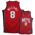 Deron Williams New Jersey Nets #8 Youth Revolution 30 Swingman Adidas NBA Basketball Jersey (Road Red)