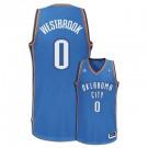 Russell Westbrook Oklahoma City Thunder #0 Revolution 30 Swingman Adidas NBA Basketball Jersey (Road Blue)