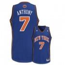 Carmelo Anthony New York Knicks #7 Youth Revolution 30 Swingman Adidas NBA Basketball Jersey (Road Blue)