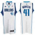Dirk Nowitzki Dallas Mavericks #41 Swingman Adidas NBA Basketball Jersey (White)