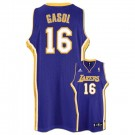 Pau Gasol Los Angeles Lakers #16 Revolution 30 Swingman Adidas NBA Basketball Jersey (Road Purple)