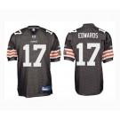 Braylon Edwards Cleveland Browns #17 Authentic Reebok NFL Football Jersey (Brown)