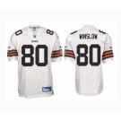 Kellen Winslow Cleveland Browns #80 Authentic Reebok NFL Football Jersey (White)