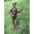 """Sports Coach"" Limited Edition Bronze Garden Statue - Approx. 63"" High"
