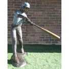 """Middle of Swing (Baseball Batter)"" Bronze Garden Statue - Approx. 5' High"