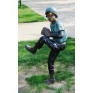 """""""Baseball Pitcher"""" Bronze Garden Statue - Approx. 51"""" High"""