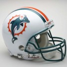"Miami Dolphins ""Former Logo"" NFL Riddell Authentic Pro Line Full Size Football Helmet"