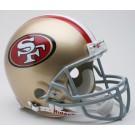 San Francisco 49ers 1996-2008 NFL Riddell Authentic Pro Line Throwback Full Size Football Helmet
