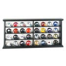 32 Piece NFL Pocket Pro Helmet Set with Wood Display Case