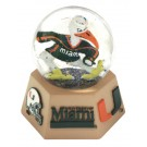 Miami Hurricanes Musical Snow Globe with Collegiate Mascot