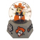 Oklahoma State Cowboys Musical Snow Globe with Collegiate Mascot