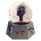 Virginia Tech Hokies Musical Snow Globe with Collegiate Mascot