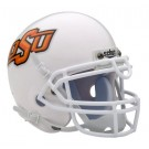 Oklahoma State Cowboys NCAA Mini Authentic Football Helmet From Schutt (White)