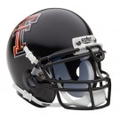 Texas Tech Red Raiders NCAA Mini Authentic Football Helmet From Schutt (Black)