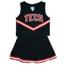 Texas Tech Red Raiders Cheerdreamer Young Girls Cheerleader Uniform (Black)
