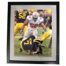 "Autographed Vernon Gholston 16"" x 20"" Framed Photograph (COA: Sports Images)"