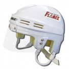Calgary Flames Official NHL Mini Player Helmet (White)