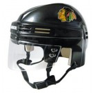 Chicago Blackhawks Official NHL Mini Player Helmet (Black)