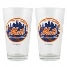 New York Mets Boelter Pint Glasses (Set of 2 Glasses)
