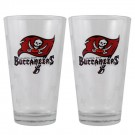 Tampa Bay Buccaneers Boelter Pint Glasses (Set of 2 Glasses)