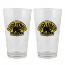 Boston Bruins Boelter Pint Glass (Set of 2)