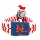 New York Mets Leather Wrist Band / Bracelet