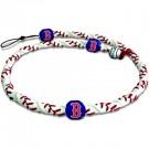 Boston Red Sox Classic Frozen Rope Baseball Wristband / Bracelet